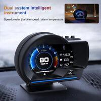 OBD2 + GPS HUD Messgerät Head Up Auto Display Tachometer Turbo RPM Alarm Temp