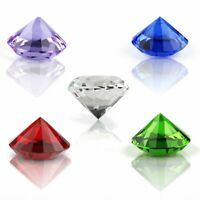 40/60/80mm Crystal Paperweight Cut Glass Diamond Jewelry Wedding Decorations