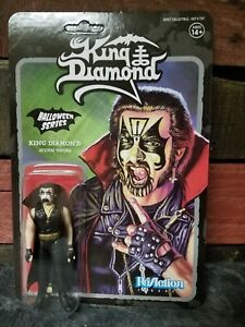 "KING DIAMOND 3.75"" ReAction Figure Super7 Mercyful Fate ULTRA RARE Mint on Card"