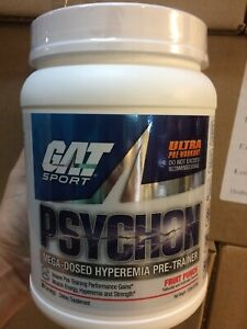 Psychon Ultimate Pre-Workout by GAT Sport Fruit Punch 20 Serv PAST DATE DEAL