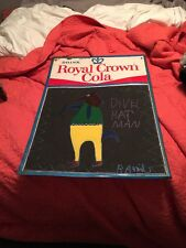 Original Artwork signed by RA Miller--Divel Hat Man On Royal Crown RC Sign. Rare