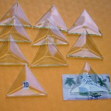 (Box of 30) Clear Glass TRIANGLE Bevels 2 x 2 x2 inch Bevel on Top Flat on Back