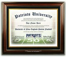 NEW ENGLAND PATRIOTS NFL Football Fan Certificate / Diploma Man Cave GIFT Xmas