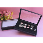 36 Slots Black Velvet Rings Jewelry Showcase Display Case Box Holder Organizer