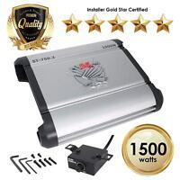 Car Amplifiers - ST-750.2 1500 Watt 2 Channels Class AB Amp 2/4 Ohm + Bass Knob