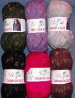 wool blend glitter Lilla 65/% OFF! Rozetti Yarns :Allore Colors #108: