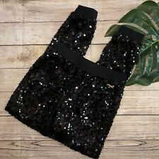 Guess Girls Size 10 Black Sequin Pants Jogger