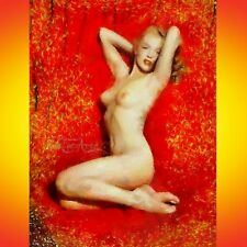 Nik Tod Original Pintura Arte Firmada grandes nikfinearts Desnudo Nude Marilyn Monroe