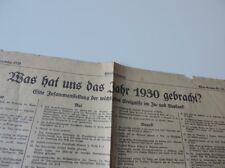 ALTE KÖLNISCHE ZEITUNG 31.12.1930 WAS HAT UNS DAS JAHR 1930 GEBRACHT?