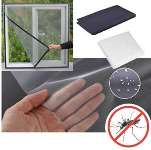 Moustiquaire Fenêtre 130 x 150 cm Amovible Fixation Simple Facile Scratch Filet