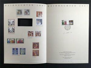 GERMANY ART-EDITION 1997/30 1959/1960 WEIHNACHTEN CHRISTMAS UNISSUED DRAFTS!!