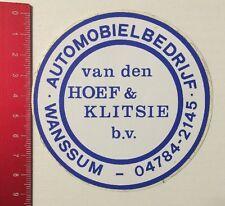 Aufkleber/Sticker: Automobielbedrijf - Van Den Hoef & Klitsie B.V. (01061679)