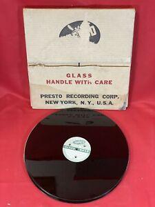 "Lot of 8 NOS Blank PRESTO 12"" GLASS-BASED RECORDING DISCS Acetate Records"