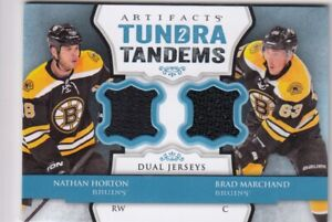 BRAD MARCHAND & HORTON NO:TT-HM JERSEY TUNDRA TANDEMS in ARTIFACTS 2013-14