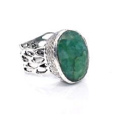 Emerald Quartz Gorgeous Gemstone Jewelry Christmas Sale Ring 7.50'' FE517