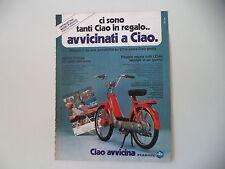 advertising Pubblicità 1978 PIAGGIO CIAO 50
