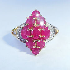 9ct Gold 1.50ct Ruby & Diamond Ring, Size P