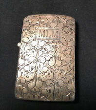 Vtg Collectible Sterling Silver .925 Case with Zippo Insert Lighter Eng. MLM