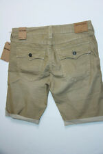 True Religion Men Cut Off Corduroy Khaki  Shorts 31 MCBC087JD2