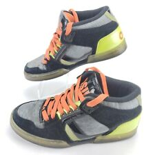 Rare Collector Osiris skate shoe NYC 83 Mid Metal Mesh Green/Orange/Black EUC