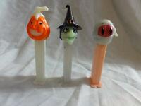 Pez Lot 3 Halloween Witch issue E, Mummy A, Pumpkin D ~ Glow in the Dark ~ GITD