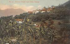 Chinese Temple Ayer Etam PENANG Malaysia Malaya Kaulfuss c1910s Vintage Postcard