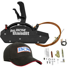 B&m 81112 Stealth Pro Bandit Black PG Rear Exit Race Shifter + Black B&M hat
