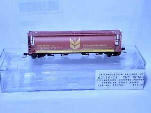 Intermountain Canadian Wheat Board Cylindrical Covered Hopper #65116-11  N scale