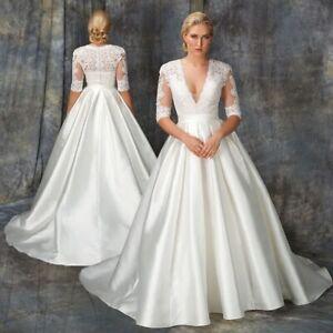 WEDDING DRESS BY ASPIRE , BERKETEX SIZE 12 14 16, IVORY BLUSH SATIN AND LACE