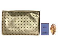 Mini Thierry Mugler Angel Muse Perfume 5ml EDP & Gold Make Up Bag Women Travel