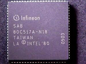 SAB80C517A-N18 - Infineon Microcontroller (PLCC-84)