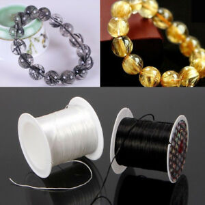 Stretch Polyester String Cord Elastic Clear Beading Thread for Jewelry Making