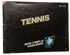 A SAISIR RARE NOTICE EN FRANCAIS POUR CONSOLE NINTENDO NES : TENNIS !!!