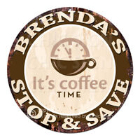 CWSS-0031 BRENDA'S STOP&SAVE Coffee Sign Birthday Mother's Day Gift Ideas