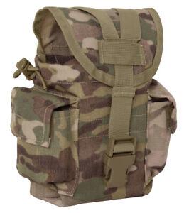 OCP Canteen Pouch Molle Utility Multicam Camo Army Modular Tactical Rothco 40024