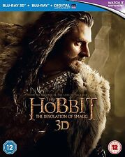 The Hobbit: The Desolation of Smaug [Blu-ray 3D + Blu-ray] [2013] no UV used vg