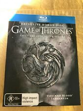 Game Of Thrones : Season 6 Blu Ray Special Edition with bonus disc As New