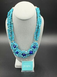 Jay King DTR Mine Finds Sleeping Beauty Turquoise & Lapis Multi Strand Necklace