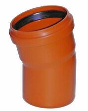 KG-Rohr Bogen Kanalrohr DN 110 15 Grad PVC-U