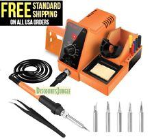 Aicase Digital Soldering Iron Station 60 Watt 110v 392f 896f Temperat Sd1
