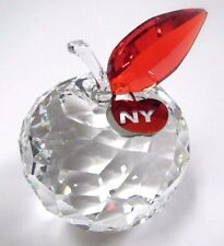 NEW YORK APPLE, LARGE - CLEAR CRYSTAL NYC LOVE 2016 SWAROVSKI CRYSTAL #5264884