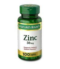 Nature's Bounty Zinc 50mg Caplets - 100 Count