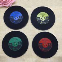 Retro Vinyl Schallplatten CD Untersetzer Tisch Kaffee Schalenmatten Placemat NEU