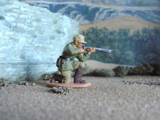 Vintage World war 2 Lone star German Afrika Korps kneeling firing 1:32 painted