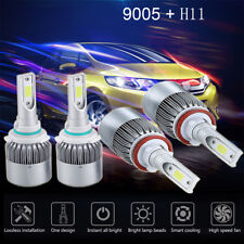 4 Bulbs Kit H11 9005 6000K LED 2820W 423000LM Combo Set Headlight High Low Beam