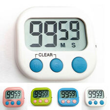compte à rebours Minuteur grand LCD numérique cuisine Horloge Fort alarme