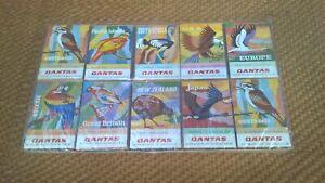 Vintage Set Of Qantas Airline Match Boxes Matches - Unused