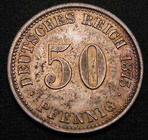 GERMANY (Empire) 50 Pfennig 1875 A - Silver - Wilhelm I. - XF/aUNC - 499