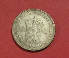 Netherlands 1930 1/2 Gulden Silver Coin