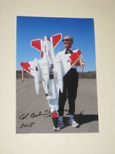 Test Pilot ROBERT THACKER Signed 4x6 Photo AIR FORCE AUTOGRAPH 1